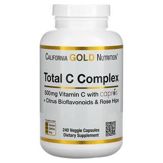 California Gold Nutrition, Total C Complex, 500 mg, 240 Veggie Capsules