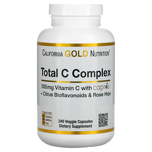 California Gold Nutrition, 總 C 複合物,240 粒素食膠囊