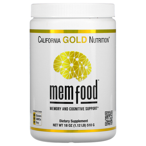 California Gold Nutrition, MEM Food, для поддержки памяти и когнитивных функций, 18 унций (510 г)
