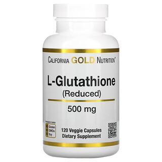 California Gold Nutrition, L-谷胱甘肽(还原型),500 毫克,120 粒素食胶囊