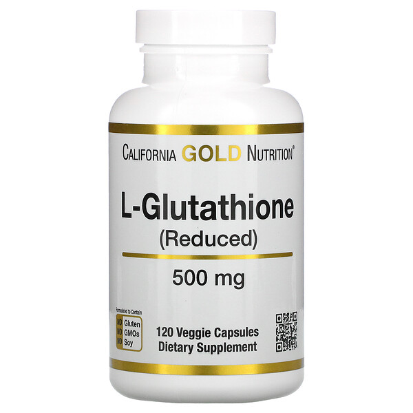 California Gold Nutrition, L-Glutathione (Reduced), 500 mg, 120 Veggie Capsules