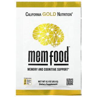 California Gold Nutrition, MEM Food,记忆力和认知支持,独立包装,0.3 盎司(8.5 克)