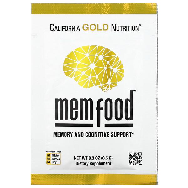 MEMFood, для поддержки памяти и когнитивных функций,индивидуальная упаковка, 8,5г (0,3унции)