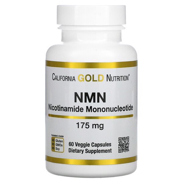 California Gold Nutrition, NMN,175 毫克,60 粒素食膠囊