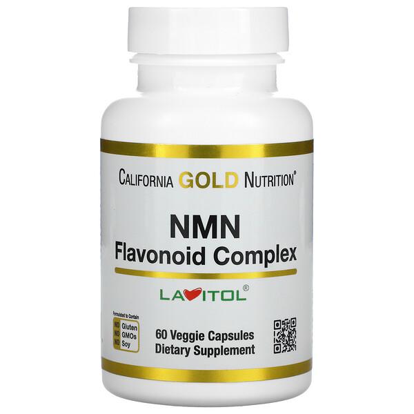 California Gold Nutrition, NMN, Nicotinamide Mononucleotide, Flavonoid Complex, 60 Veggie Capsules