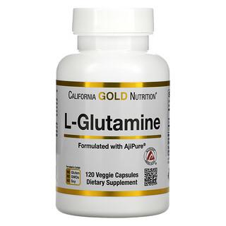 California Gold Nutrition, L-Glutamine, AjiPure, 120capsules végétariennes
