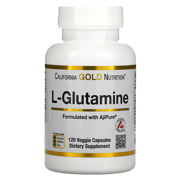 California Gold Nutrition, L-Glutamine, AjiPure, 120 Veggie Capsules