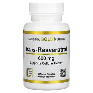 California Gold Nutrition, Trans-Resveratrol, 600 mg , 60 Veggie Capsules