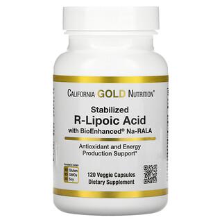 California Gold Nutrition, Stabilized R-Lipoic Acid, 120 Veggie Capsules
