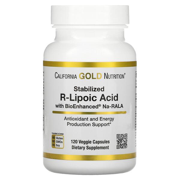 Stabilized R-Lipoic Acid, 120 Veggie Capsules