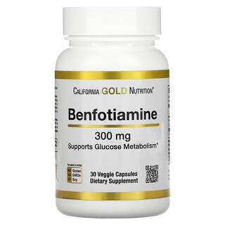 California Gold Nutrition, бенфотиамин, 300мг, 30растительных капсул