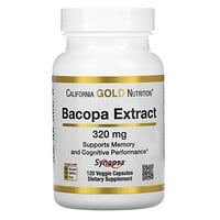 California Gold Nutrition, Bacopa Extract, 320 mg, 120 Veggie Capsules