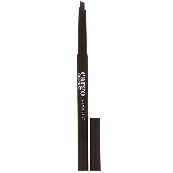 Cargo, Swimmables, lápis de sobrancelhas de longa duração, Dark, 0,35 g (Discontinued Item)