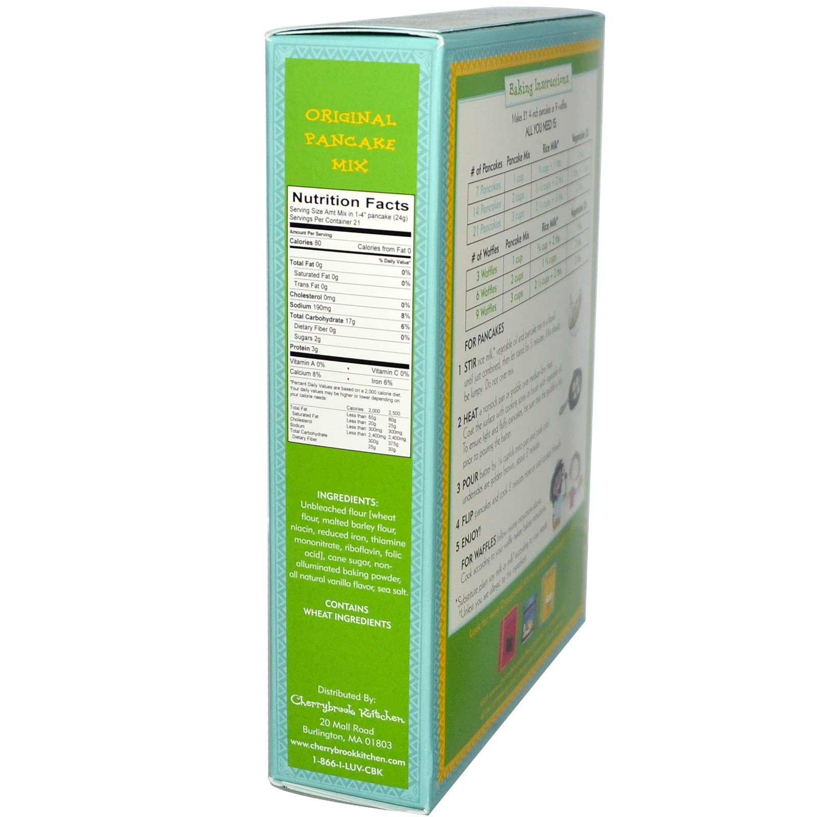 Cherrybrook Kitchen, Original Pancake Mix, 18.5 oz (524 g) - iHerb.com
