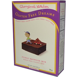 Cherrybrook Kitchen, Gluten Free Dreams, Fudge Brownie Mix, 14 oz (397 g)