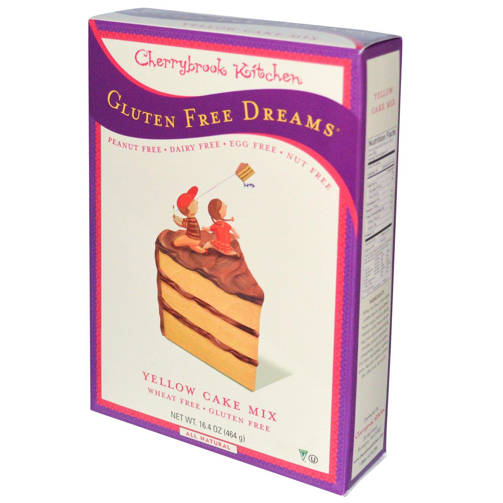 Cherrybrook Kitchen, Безглютеновые мечты, желтая смесь для приготовления пирожных, 16,4 унции (464 г)