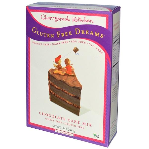 Cherrybrook Kitchen, Безглютеновые мечты, смесь для приготовления шоколадных пирожных, 16,4 унции (464 г)