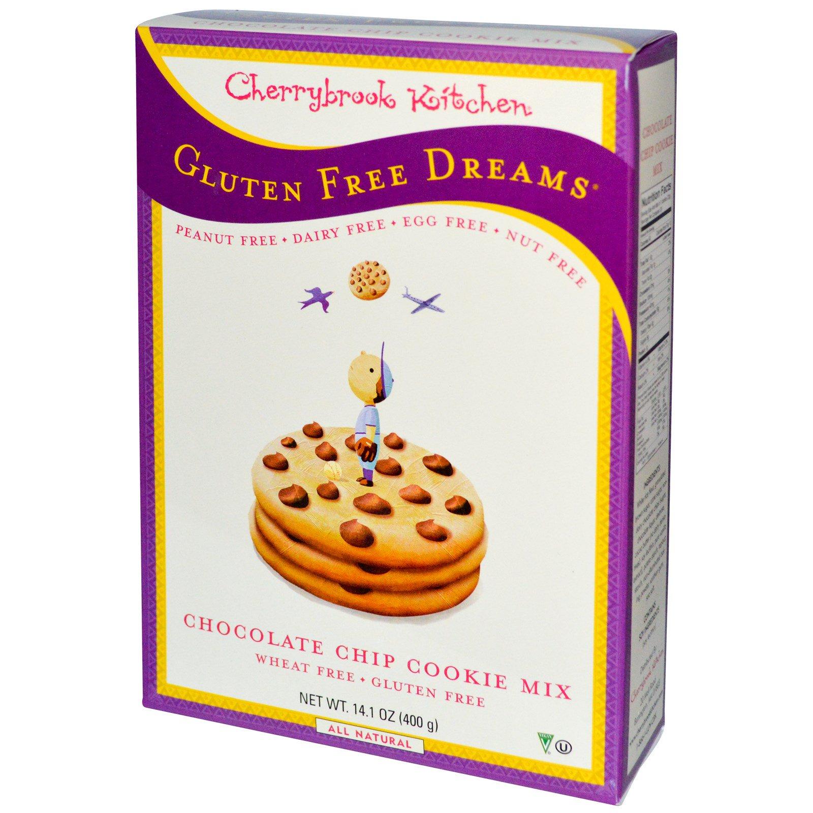 Cherrybrook Kitchen, Безглютеновые мечты, смесь для приготовления печенья с шоколадной крошкой, 14,1 унция (400 г)
