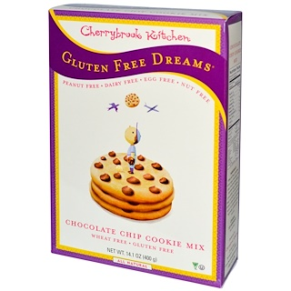 Cherrybrook Kitchen, Gluten Free Dreams, Chocolate Chip Cookie Mix, 14.1 oz (400 g)