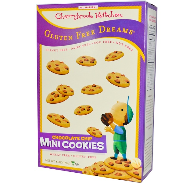 Cherrybrook Kitchen, Gluten Free Dreams, Chocolate Chip Mini Cookies, 6 oz (170 g) (Discontinued Item)