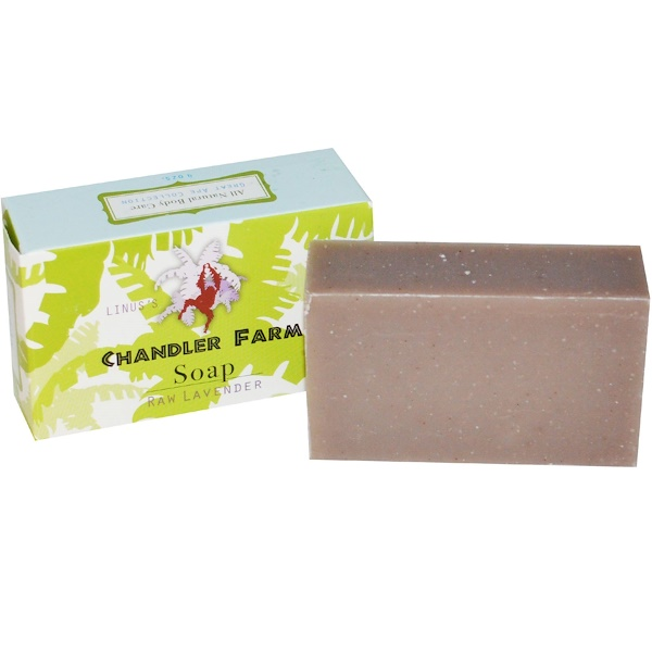 Chandler Farm, Linus's Soap, Raw Lavender, 4 oz (Discontinued Item)