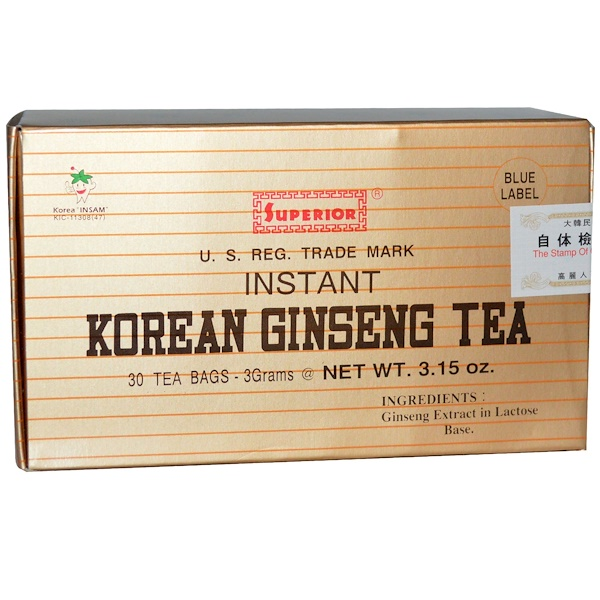 Chinese Imports, Instant Korean Ginseng Tea, 30 Tea Bags, 3.15 oz (3 g) (Discontinued Item)