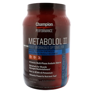 Champion Nutrition, Metabolol II, Post Workout Optimizer, Simply Plain, 2.2 lbs (1,000 g)