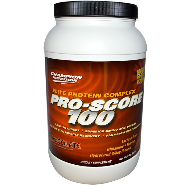 Champion Nutrition, Pro-Score 100, Elite Protein Complex, Chocolate, 2 lbs (908 g) (Discontinued Item)