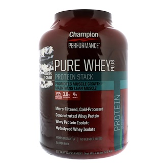 Champion Nutrition, Pure Whey Plus, Cookies & Cream, 4.8 lbs (2.2 kg)
