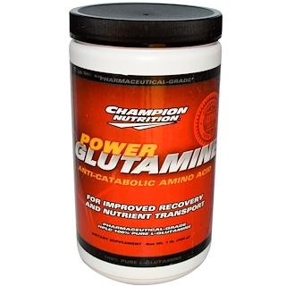 Champion Nutrition, パワーグルタミン、アンチカタボリックアミノ酸、1ポンド (454 g)