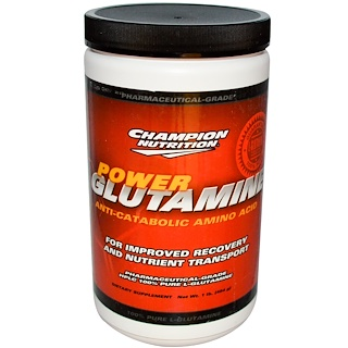 Champion Nutrition, Power Glutamine, Anti-Catabolic Amino Acid, 1 lb (454 g)