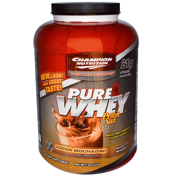 Champion Nutrition, Pure Whey, Protein Stack, Cocoa-Mochaccino, 5 lbs (2.27 kg) (Discontinued Item)