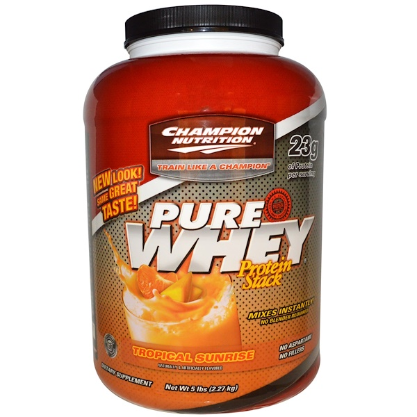 Champion Nutrition, Pure Whey Protein Stack, Tropical Sunrise, 5 lbs (2.27 kg) (Discontinued Item)