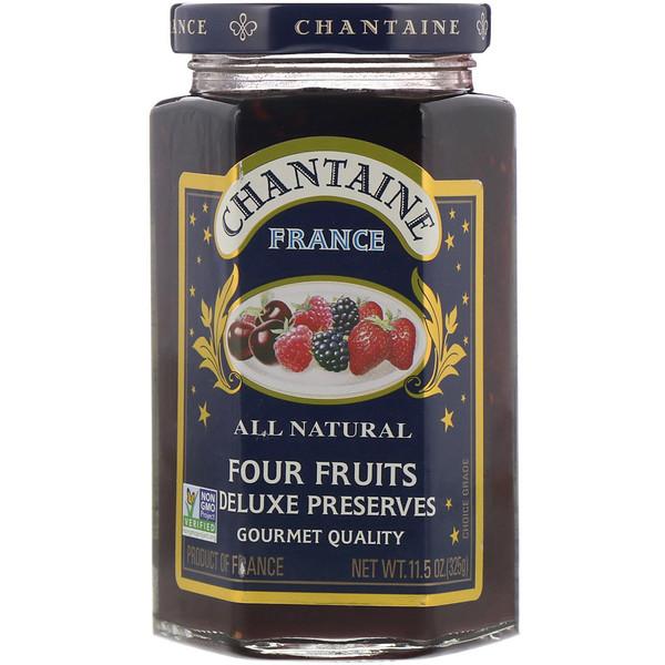 Chantaine, Пресервы люкс, четыре фрукта, 11,5 унции (325 г) (Discontinued Item)
