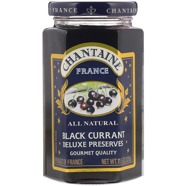 Chantaine, Deluxe Preserves, Черная смородина 11.5 унции (325 г) (Discontinued Item)