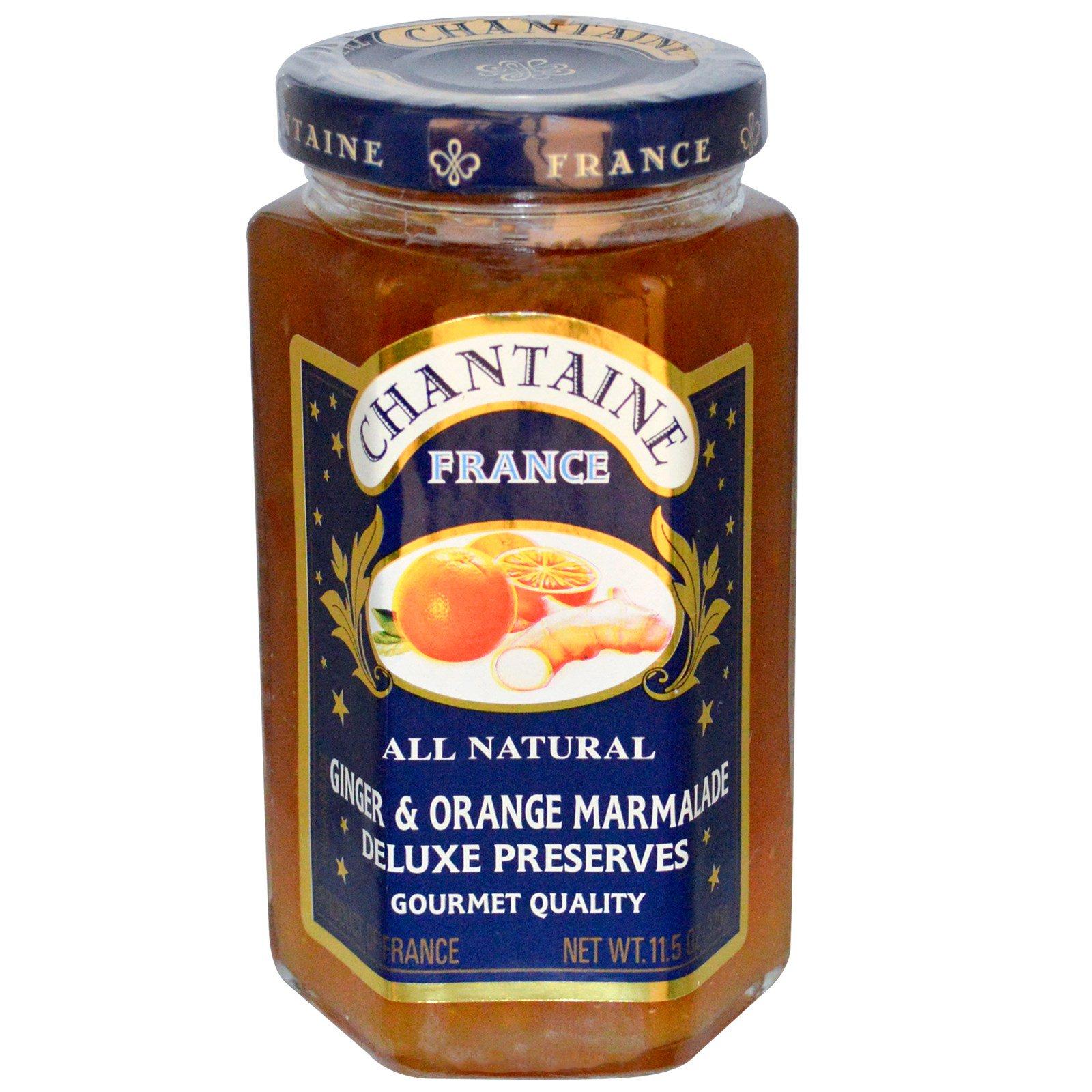 Chantaine, Пресервы люкс, имбирно-апельсиновый мармелад, 11,5 унции (325 г)