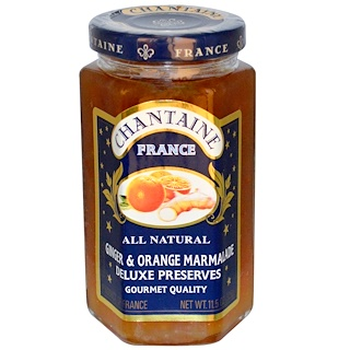 Chantaine, Deluxe Preserves, Ginger & Orange Marmalade, 11.5 oz (325 g)