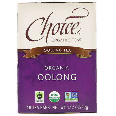 Oolong Tea, Organic Oolong, 16 Tea Bags, 1.1 oz (32 g) 100gshuixian rock tea dahongpao tea big red robe shuixian wuyi cliff oolong tea free shipping