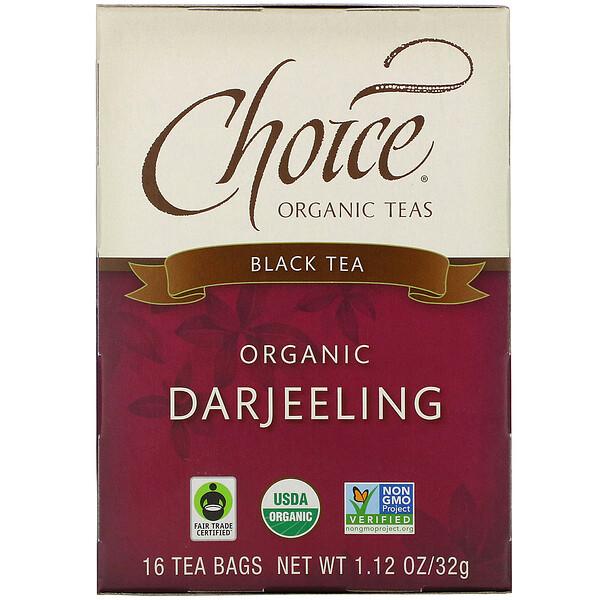 Black Tea, Organic Darjeeling, 16 Tea Bags, 1.12 oz (32 g)
