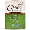 Choice Organic Teas, Organic, Green Tea, Premium Japanese Green, 16 Tea Bags, 1.12 oz (32 g)