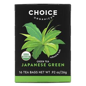 Чойс Органик Тис, Green Tea, Japanese Green, 16 Tea Bags, .92 oz (26 g) отзывы