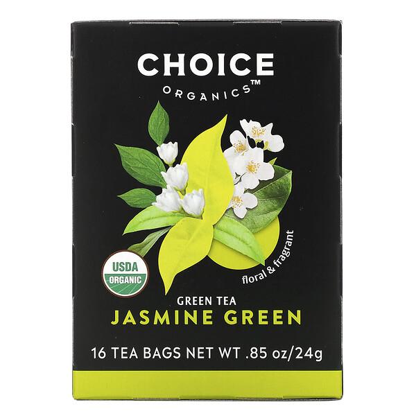 Green Tea, Organic Jasmine Green, 16 Tea Bags, .85 oz (24 g)