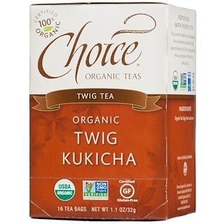 Choice Organic Teas, Organic, Twig Tea, 16 Tea Bags, 1.1 oz (32 g)