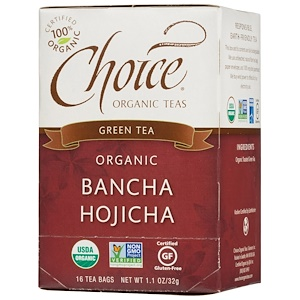 Чойс Органик Тис, Green Tea, Organic, Bancha Hojicha, 16 Tea Bags, 1.1 oz  (32g) отзывы