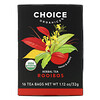 Choice Organic Teas, Herbal Tea, Organic Rooibos, Caffeine-Free, 16 Tea Bags, 1.12 oz (32 g)