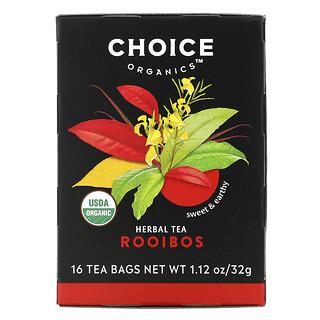 Choice Organic Teas, Herbal Tea, Rooibos, Caffeine-Free, 16 Tea Bags, 1.12 oz (32 g)