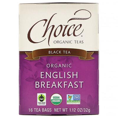 Купить Органический, Английский завтрак, черный чай, 16 чайных пакетиков, 1, 1 унции (32 г)