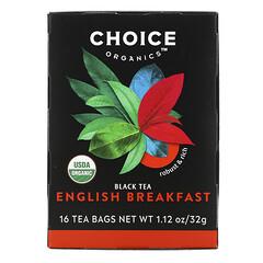 Choice Organic Teas, 紅茶,英式早餐茶,16 茶包,1.12 盎司(32 克)