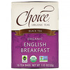 Choice Organic Teas, Black Tea, Organic English Breakfast, 16 Tea Bags, 1.12 oz (32 g)