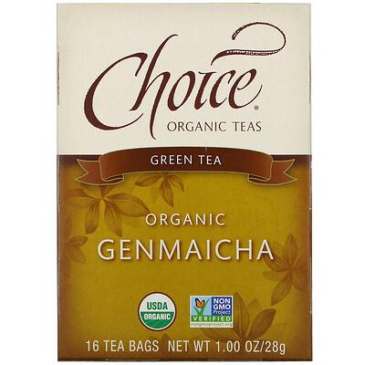 Choice Organic Teas Organic, Genmaicha, Green Tea, 16 Tea Bags, 1.00 oz (28 g)  - купить со скидкой